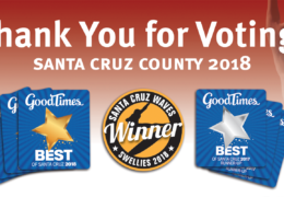 Congrats… Goodtimes 'Best of' Santa Cruz Award Winners!